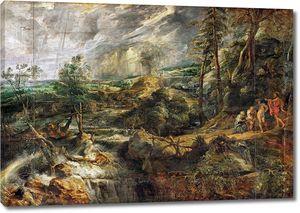 Рубенс. Гроза, пейзаж с Филемоном и Бавкидой