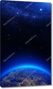 Земля в ночных огоньках