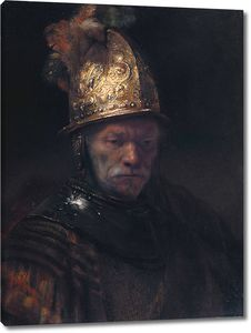 Рембрандт. Портрет мужчины в золотом шлеме