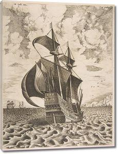 Брейгель Военный галеон в открытом море