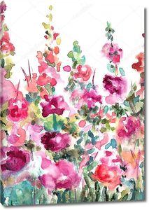 Абстрактный цветочный фон акварель