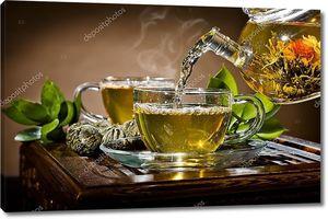Стеклянный чайный сервиз
