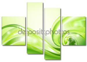 Абстрактный зеленый фон