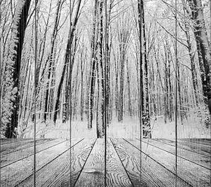 Вуд Текстурированные стола в интерьере комнаты на фоне зимний лес