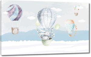 Зайка на воздушном шаре