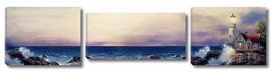 Маяк на берегу океана панорама
