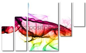 Красочные дыма форма абстракции на белом