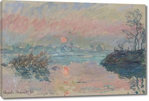 Моне Клод. Закат на Сене, 1880