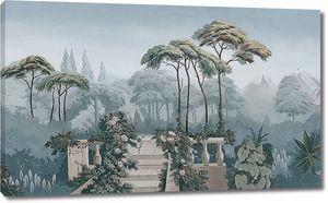 Терраса в экзотическом парке