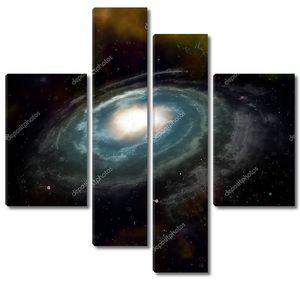 Спиральная галактика Черное пространство