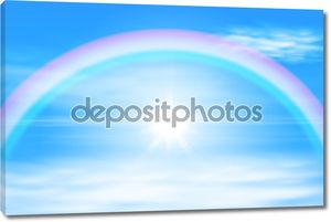 Солнце в небе Радуга