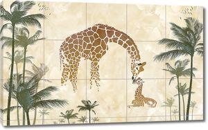 Жирафы на кафеле