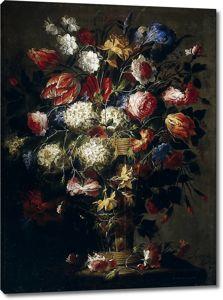 Хуан де Арельяно.Цветы в вазе 3