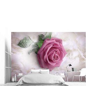 Роза на перьях