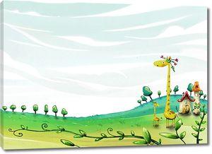 Жираф в сказочном мире