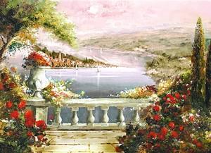 Вид с балкона на живописную реку