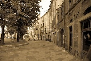 улицы Турин на утро