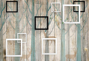 Рамки на рисунке на заборе