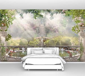 Веранда с видом на живописный сад