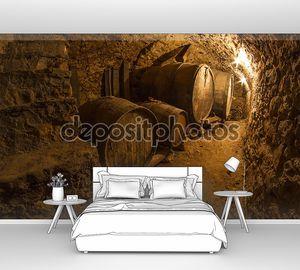 Винный погреб в старом подземелье