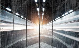 Тоннель в ночное время