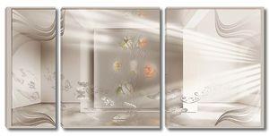 Комната цветы абстракция