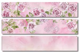 Бутоны на розовом фоне