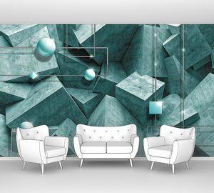 Бетонные блоки с шарами