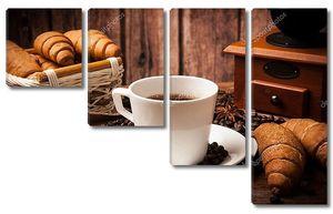 Натюрморт с кофе и чашкой