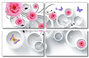 Розы, круги и бабочки