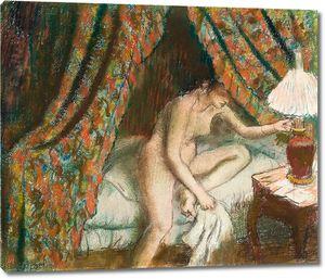 Дега - Обнаженная женщина в постели, Уход на пенсию