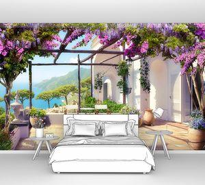 Терраса под цветочной крышей