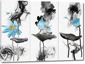 Голубые лотосы с черными листами