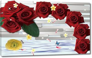 Абстрактный венок из роз