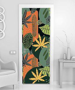 Цветной тропический орнамент