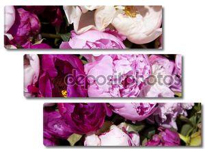 Букет свежих Розовые пионы