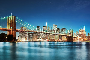 Нью-Йорк после захода солнца