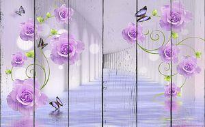 Тоннель с розами в воде