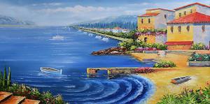 Домики вдоль берега
