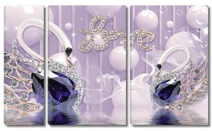 Два лебедя Love