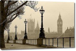 Лондон в тумане, Винтаж Фото