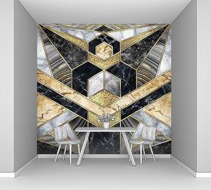 Абстрактный геометрический фон ар-деко.