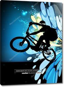 вектор велосипедистом bmx