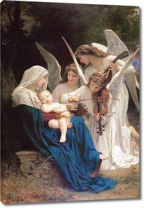Адольф Вильям Бугро. Мадонна с Младенцем и музыцирующими ангелами (Песня ангелов)