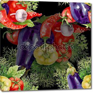 Фон со свежими овощами