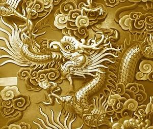 фон дракона золотой