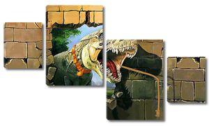 Голова динозавра из стены