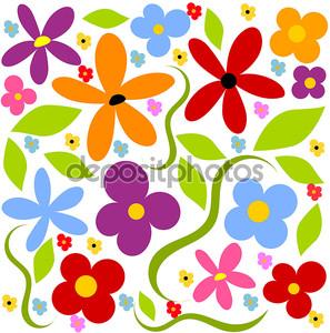 Цветочный луг фон