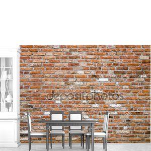 Старая кирпичная стена крупным планом