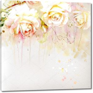 Живописный букет из роз